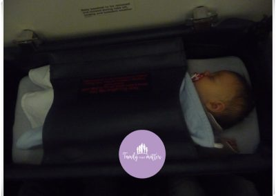 Sleeping in the airplane