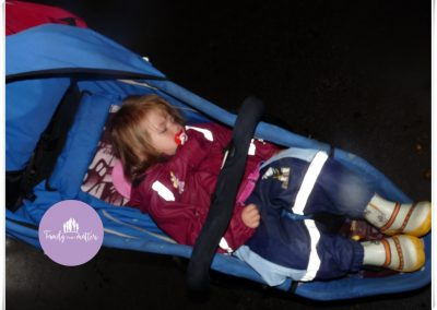 Sleeping in the stroller